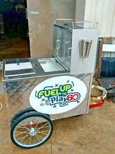 All American Chicago Hot Dog Cart Famous Style Original Hot Dogger Steamer