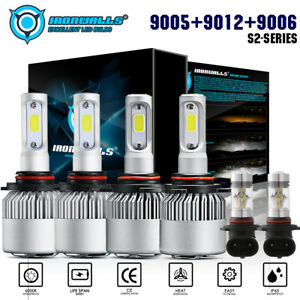 6x Led Headlight Bulb High Low Fog Combo For Dodge Ram 1500 2500 3500 2013 2015