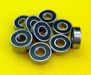 10pcs 16001 2rs 12x28x7 Mm Metal Rubber Sealed Ball Bearings 12 28 7 16001rs
