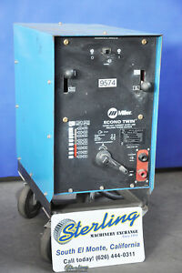 150 Amp Used Miller Arc Welder Econo Twin 9574
