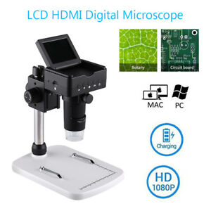 2 4 Usb Lcd Hdmi Digital Microscope Camera 220x 1080p Hd Video Fr Mac Pc Remote