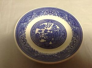 Antique 6 Blue Willow Plate Dish