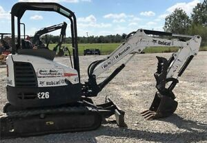 Genuine 2013 Bobcat E26 Mini Excavator Thumb 1450 Hours