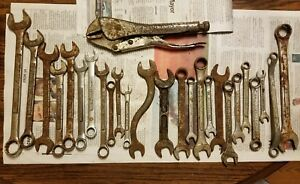 26 Piece Wrench Lot craftsman Sk Tools Buffalo Crescent Lectrolite