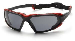 Pyramex Sbr5020dt Highlander Safety Glasses Blk red Gray Anti Fog Lens 12 Pair