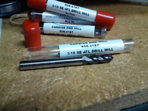 3 16 4 Flute 90 Degree Point Angle Altin Coated Carbide Drill Mill
