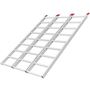 69 Tri fold Aluminum Loading Ramp For Motorcycle Atv Ramps Truck Trailer Lawn