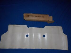 Nos Ford 1964 1965 Falcon Full Rear Floor Mat Rubber Emblem 260 289 White