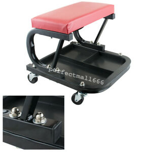 Car Repair Roller Seat Padded Mechanics Roller Creeper With Tray Tool Drawer Us