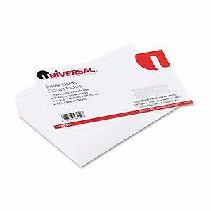Universal White Ruled Index Cards 10 Packs Of 100