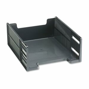 Rubbermaid Stackable Ebony High Capacity Front Load Letter Tray