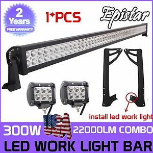 52inch 300w 4 18w Led Light Bar windshield Mounting Bracket For Jeep Jk Wrangler