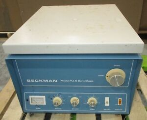 Beckman Tj 6 Tabletop Centrifuge Cat No 340508 W Rotor working