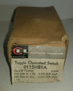 Cutler Hammer Toggle Operated Switch 9115h81a