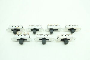 7x Switchcraft 3 Position Slide Switch 125v ac dc
