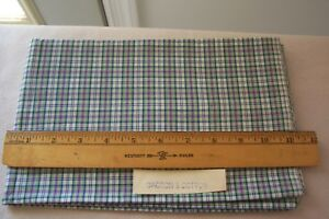 Vtg Antique 1950 S Plaid Dacron And Cotton Fabric Quilt Dress