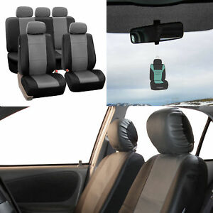 Complete Full Set Pu Leather Seat Covers For Auto With Free Gift