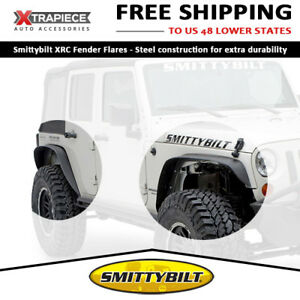 Smittybilt Xrc Fender Flares Steel Guards 4 Pcs Set Fit 07 18 Jeep Wrangler jk