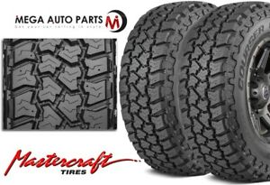 2 Mastercraft Courser Cxt 35 12 50r20lt All Terrain Performance Tires