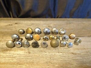 Lot Of 23 Assorted Vintage Metal Drawer Pulls Knobs Handles Cabinet Desk