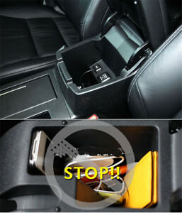 Blak Car Inner Central Btorage Box Cover Trim 1pc Fit For Honda Cr V 2012 2016