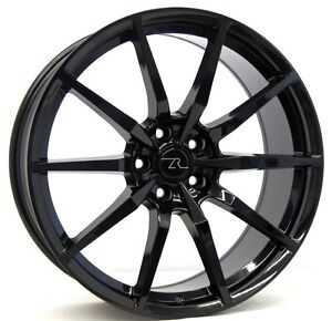 20 Gloss Black Shelby Mustang 166 Wheels 4 20x10 Flow Formed 5x114 3 05 18