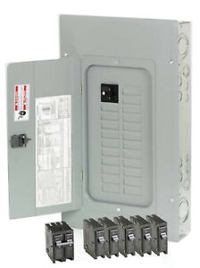 Eaton Corporation Load Center Indoor Main Breaker Installed 100 amp Main Brea