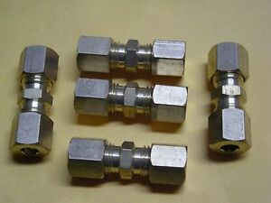 3 16 X 3 16 Straight Brass Compression Union 5 Pack