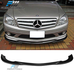 Fits 08 11 Mercedes benz W204 C Class Gh Style Front Bumper Lip Body Kit Abs