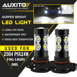 2x 2504 Psx24w Fog Driving Light Bulb For Jeep Cherokee Wrangler Patriot Compass