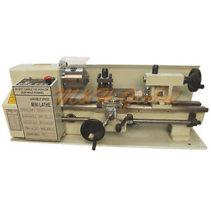Precision Digital Metal Mini Lathe Variable Speed 400w 2500rpm 7 X 12 Machine