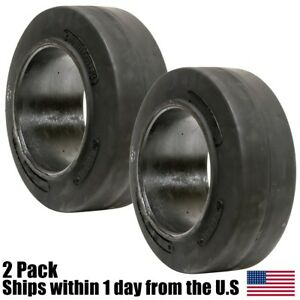 2pk 16x5x10 1 2 16x5 10 5 Solid Flat Proof Press on Smooth Forklift Tire 16510