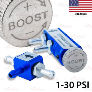 Universal Adjust Turbo Boost Controller In Cabin Wastegate Bypass Charger Blue