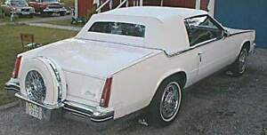 Cadillac Eldorado Asc 82 86 Convertible Top Non Defroster Glass White