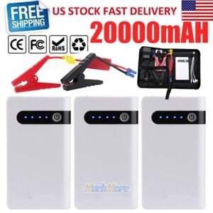 Lots 12v Portable Car Jump Starter Booster Jumper Box Power Bank Battery Charger
