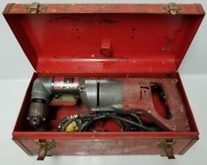 Milwaukee 1201 1 1 2 Reversible Right Angle Drill With Metal Case 4 5 Amps
