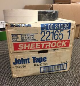 20 Rolls Of Sheetrock Paper Joint Tape 2 1 16 Special 250ft