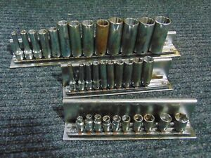 Cornwell Tools Standard Sae 3 8 1 4 Drive Deep Well Chrome Socket Set 3 16 1