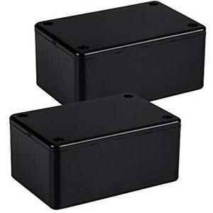 1591tsbk Pack Of 2 Abs Project Box Black Plastic 4 7 In L 3 2 W 2 2 H