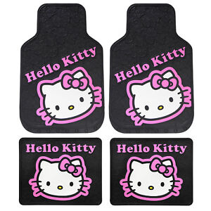 Sanrio Hello Kitty Collage Car Truck Front Back All Weather Rubber Floor Mat Set
