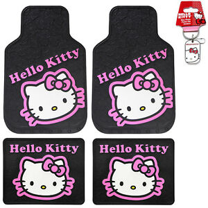 Sanrio Hello Kitty Collage Car Truck Front Rear Rubber Floor Mats