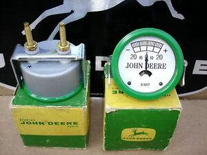 John Deere Nos Ab1190r White Face Amp Gauge Early A B D G H