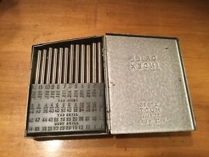 Huot Drill Index 1 To 60 Drill Blank Set Complete Made In Usa