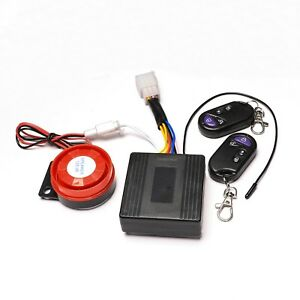 Motorcycle Scooter Atv Security Alarm System Anti theft Remote Control Start