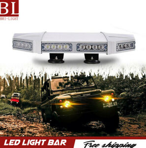 For Snow Plow Truck Ip67 18 Inch White Warning Strobe Lights