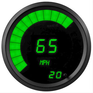 Universal Memory Digital Speedometer Green Led Gauge Black Bezel Made In The Usa