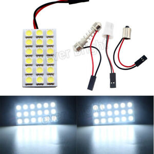 100pcs 8000k White 18smd 5050 Led T10 Ba9s Festoon Dome Car Door Map Panel Light