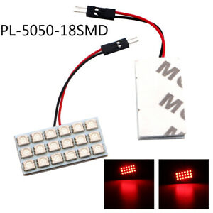 30pcs Red 18smd 5050 Led Panel Interior Dome Map Light Festoon T10 Ba9s Adapters