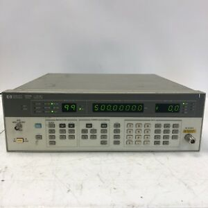 Hewlett packard Hp 8656b Synthesized Signal Generator 0 1 990mhz Tested