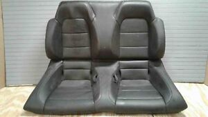 Black Leather Rear Seat Convertible Ford Mustang 15 16 17